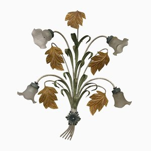 Large Florentine Wrought Iron Wall Light