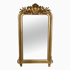 Antique Louis Philippe Gilded Overmantel Mirror