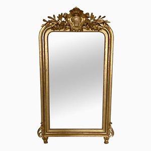 Miroir Trumeau Antique Louis Philippe Doré