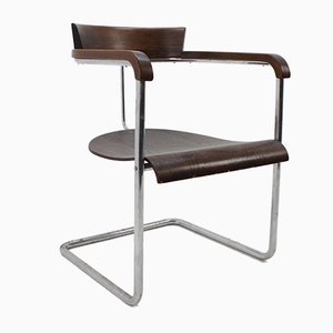 Vintage Bauhaus Chrome Chair by Jindřich Halabala for up Závody
