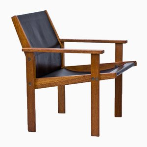 Teak & Leather Easy Chair by Hans-Agne Jakobsson for Bertil Johansson, 1976