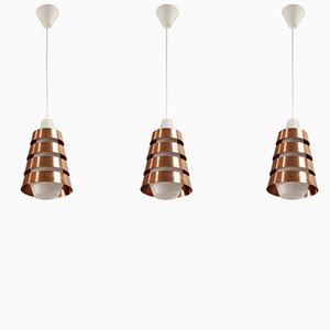 Mid-Century Scandinavian Ceiling Pendants, 1960s, Set of 3