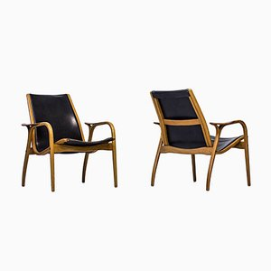 Laminett Easy Chairs by Yngve Ekström for Swedese, 1950s, Set of 2