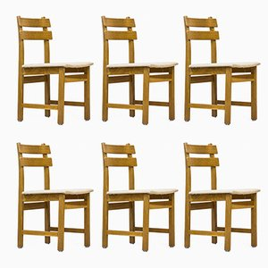 Swedish Oak Chairs, 1960s, Set of 6