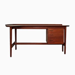 Mid-Century Danish BO85 Teak Desk by Arne Vodder for Bovirke