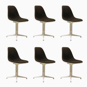 Chaise d'Appoint La Fonda Vintage en Fibre de Verre par Charles & Ray Eames, Set de 6