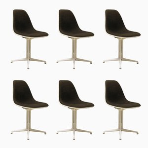 Vintage La Fonda Fiberglass Side Chairs by Charles & Ray Eames, Set of 6