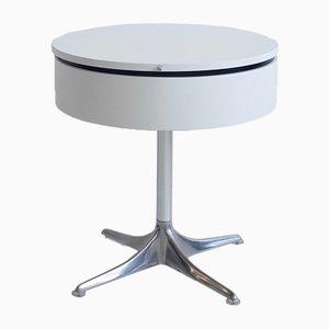Mesa auxiliar vintage redonda de laminado y aluminio de Horst Brüning para COR