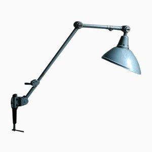 Lámpara articulada vintage de metal forjado gris de Curt Fischer para Midgard