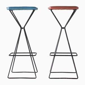 Vintage Sculptural Bar Stools, Set of 2