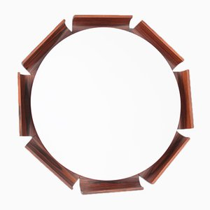 Vintage Italian Backlit Rosewood Mirror from ISA Bergamo