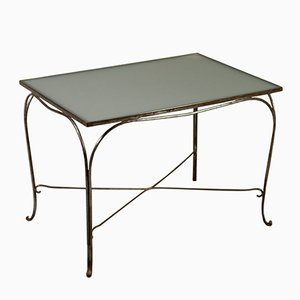 Italian Wrought Iron & Glass Table, 1960s