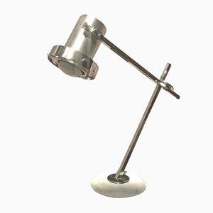 Lampada da tavolo in acciaio cromato, anni '70
