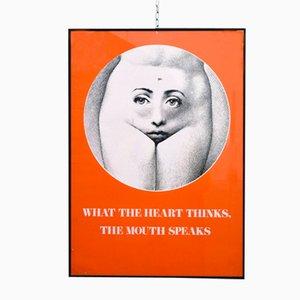 Vintage Poster von Piero Fornasetti, 1950er