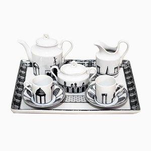 Tete-a-tete Keramik Kaffee Service von Barnaba Fornasetti für Richard Ginori, 1980er