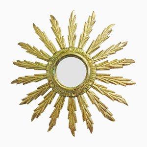 handgefertigter antiker Spiegel in Sonnen Optik