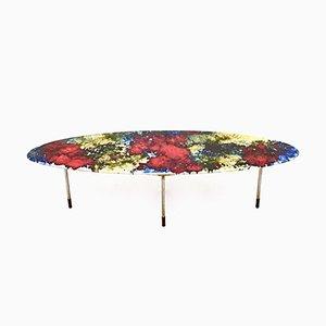 Mesa de centro de cerámica lacada multicolor de Stil Keramos, años 60