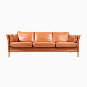 Leather 3-Seater Sofa by Mogens Hansen, 1980s