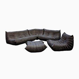 Leder Togo Sofa Set von Michel Ducaroy für Ligne Roset, 1970er