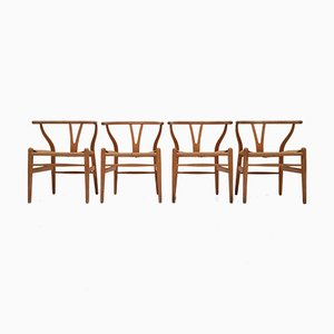 CH24 Wishbone Chairs by Hans J. Wegner for Carl Hansen & Søn, Set of 4