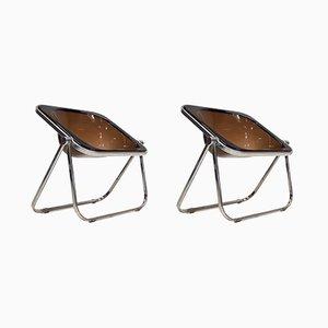 Chaises Pliables Plona Vintage par Giancarlo Piretti pour Castelli, Set de 2