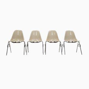 Mid-Century DSS Glasfaser Stühle von Charles & Ray Eames für Herman Miller, 4er Set