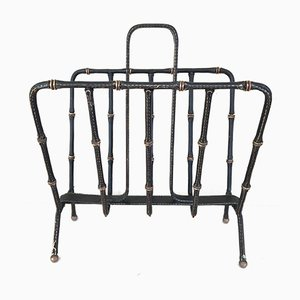 Magazine Rack by Jacques Adnet, 1950s