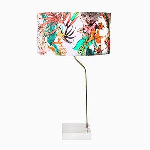 Lámpara de mesa con base de metacrilato, años 70