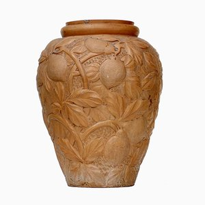 Grand Vase Antique en Terre Cuite