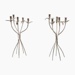 Metall Kerzenständer von Boris Simek für Driade, 1980er, 2er Set