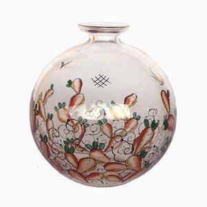 Vaso vintage in vetro smaltato di Luigi Fontana per Vedar