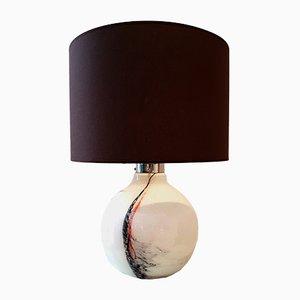 Lámpara de mesa de vidrio de Michael Bang para Holmegaard, años 70