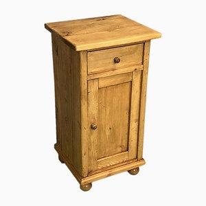 Comodino in legno di abete, anni '50
