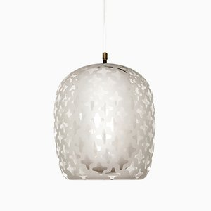 Patterned Glass Pendant Lamp by Wilhelm Wagenfeld for Peill and Putzler, 1950s