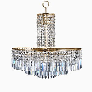 Vintage Cut Crystal Chandelier from Bakalowits & Söhne