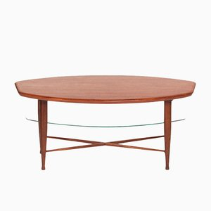 Mesa de centro de teca con revistero, años 60