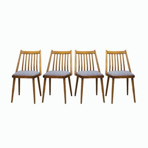 Hungarian Dining Chairs by Gábriel Frigyes for SZKIV Budapest, 1950s, Set of 4