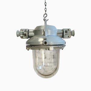 Graue Explosionssichere Lampe aus Aluminium, 1960er