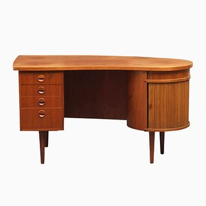 Model 54 Teak Executive Writing Desk from Feldballes Møbelfabrik, 1950s