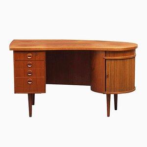 Modell 54 Teak Chef Schreibtisch von Kai Kristiansen für Feldballes Møbelfabrik, 1950er