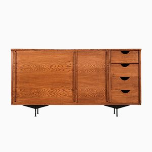 Vintage French Oak Veneer Sideboard
