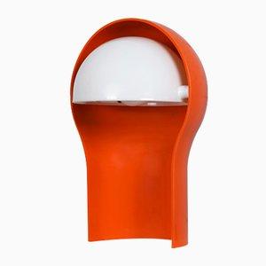Orangefarbene Telegono Tischlampe von Vico Magistretti für Artemide, 1968