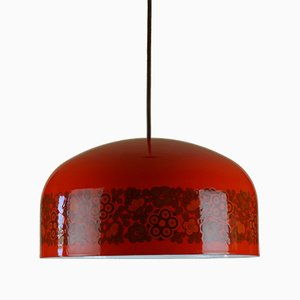 Lámpara colgante esmaltada de Kaj Franck para Fog & Mørup and Arabia, años 70