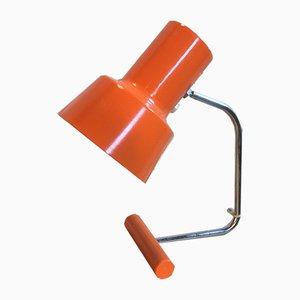 Lámpara de mesa en naranja de Josef Hurka para Napako, años 60
