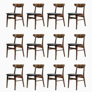 Danish The Smile Teak & Beech Dining Chairs from Farstrup, 1960s, Set of 12