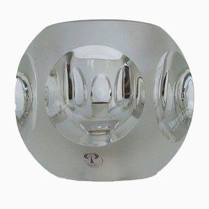 Vintage Glas Tischlampe von Peill & Putzler, 1970er