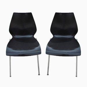 Chaises d'Appoint Vintage par Vico Magistretti pour Kartell, 1970s, Set de 2