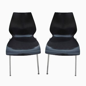 Vintage Side Chairs by Vico Magistretti for Kartell, 1970s, Set of 2