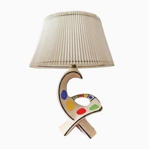 Lampada da tavolo vintage in ceramica con base a forma di uccello, anni '50
