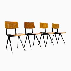 Industrielle Vintage Result Stühle von Friso Kramer & Wim Rietveld für Ahrend DE Cirkel, 2er Set